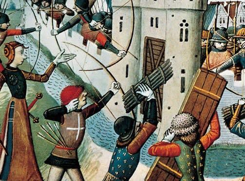 La guerra de los 100 años fue una de las primeras guerras modernas, con gran uso de material y soldados. Aquí tenemos una revisión netamente romántica de la guerra. En el XIX se idealizará, sobre todo la figura e importancia de Juana de Arco.