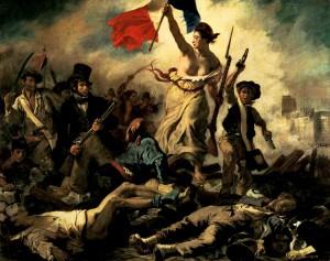 La Gloriosa revolución de 1848. La libertad de Delacroix guiando al pueblo