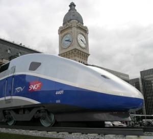Un TGV en la Estación parisina de Gare de Lyon