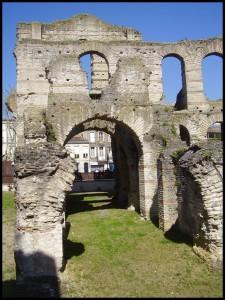 Restos de la romana Burdigala. El pasado romano, a pesar de los siglos aún es visible