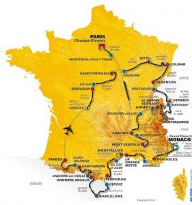 El recorrido del Tour de Francia 2009