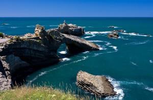 El mirador más visitado de la playa de Biarritz.