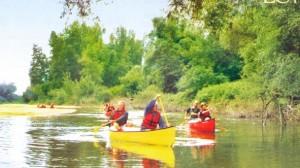 El Loira permite navegar en canoa y barco durante muchos kilométros. La naturaleza es un decorado ideal para haer piragüismo