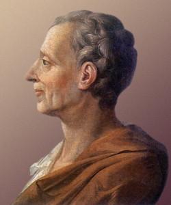 Retrato de Montesquieu, el autor del Espíritu de las leyes.