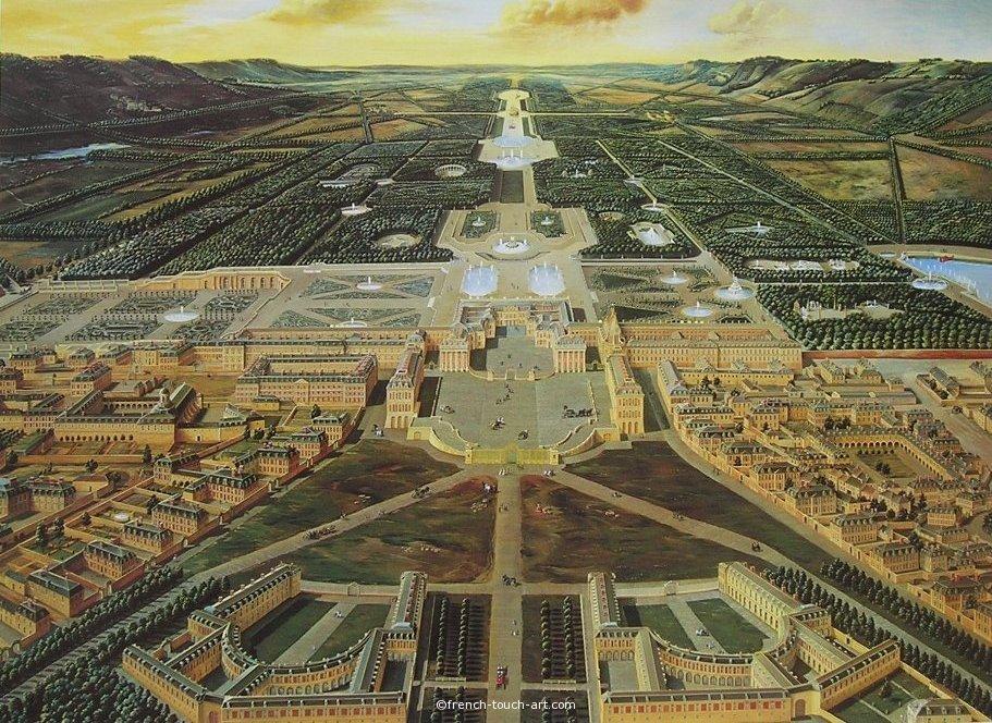 Cuadro del plano de Versalles