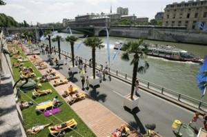 El Sena y las playas de París