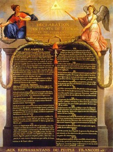Cuadro de la Declaración Universal de los Derechos del Hombre y del Ciudadano