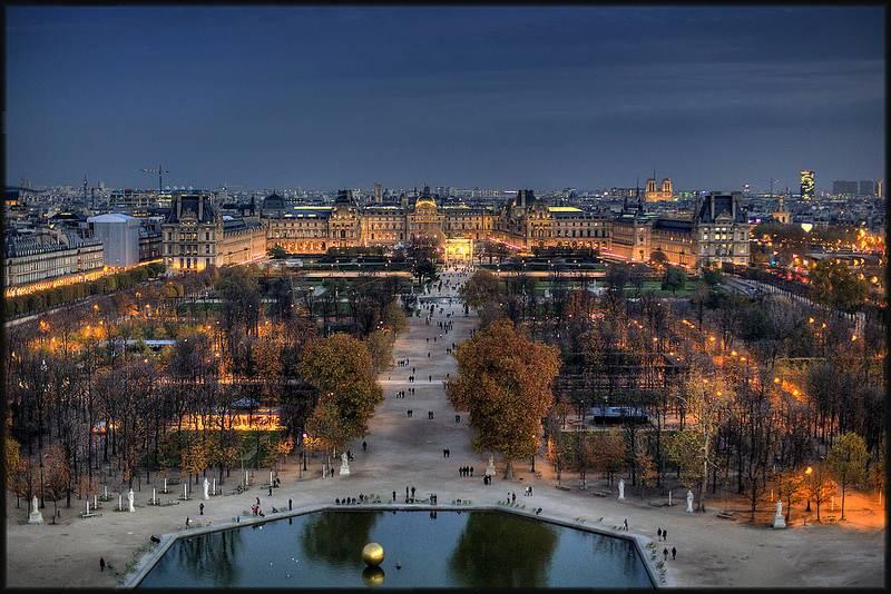 Panorámica desde las Tuileries. Foto de Escape.