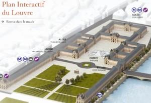 Plano del Louvre.