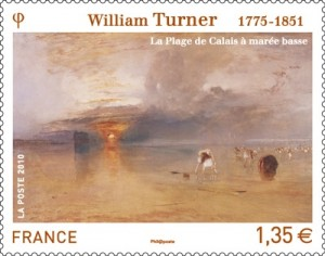 Atardecer de William Turner en el sello que acaba de ser emitido.