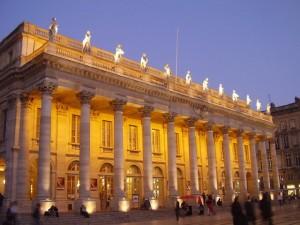 La escena y los palcos del Gran Teatro de Burdeos