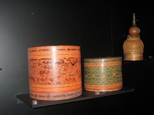 Cajas decoradas provenientes de Mongolia
