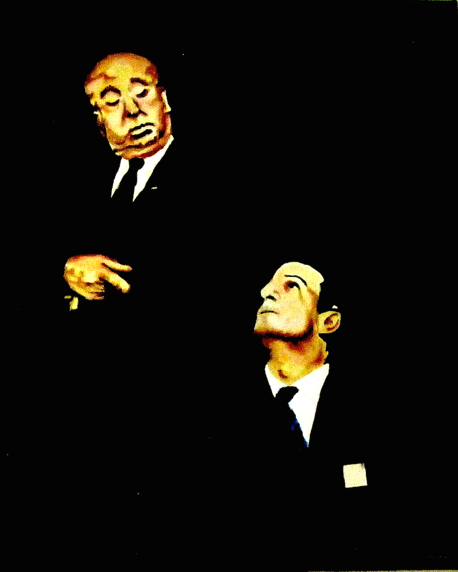 AH & FT. Hitchcock y Truffaut vistos por el joven artista Miguel Calvo Santos. noxocreacion.com